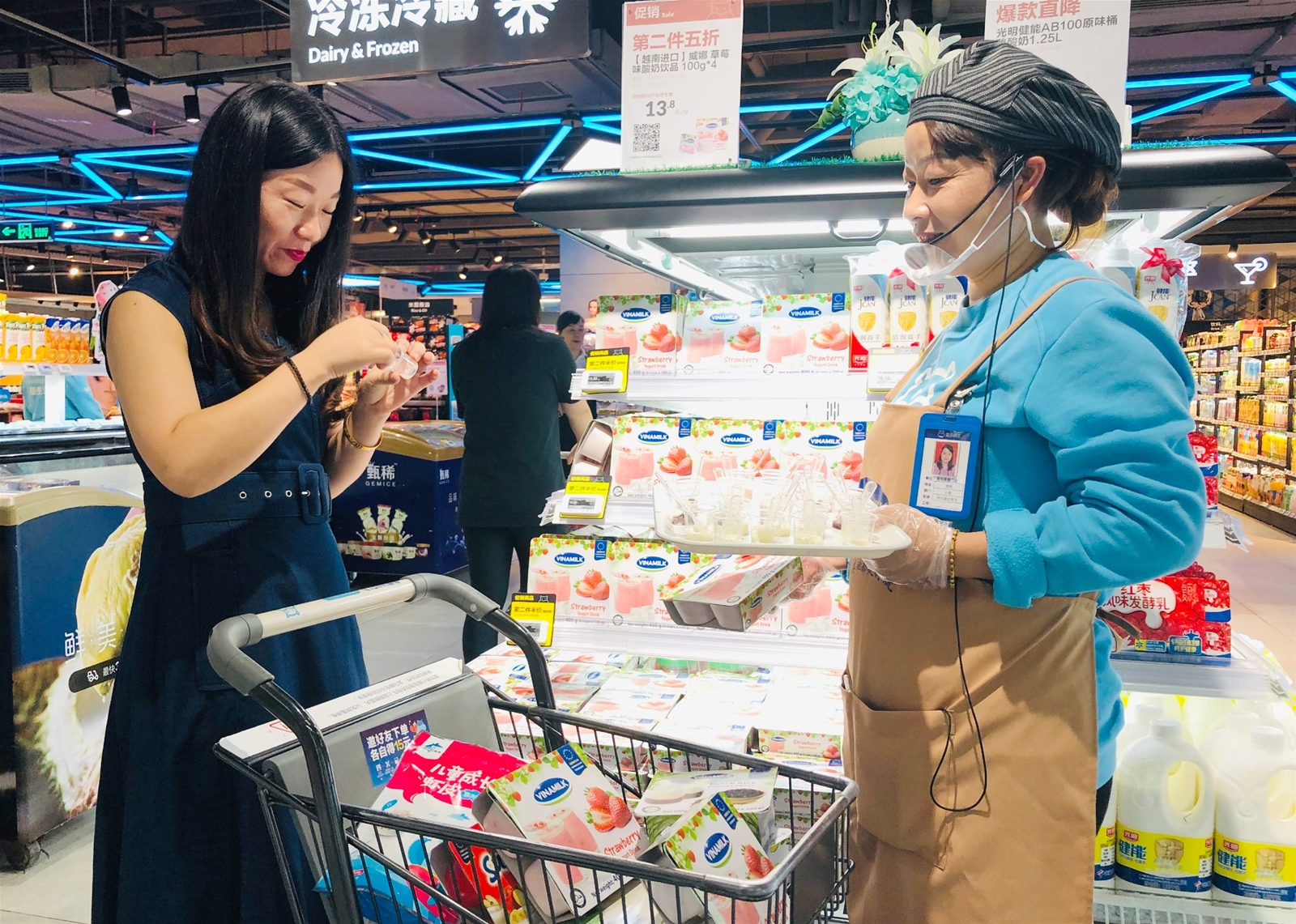 Sữa chua Vinamilk có mặt tại siêu thị thông minh Hema của Alibaba tại Trung Quốc