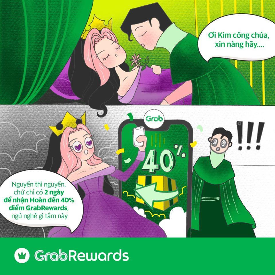 Hoàn điểm liền tay đến 40% trên GrabRewards