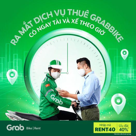 Chính thức ra mắt dịch vụ thuê GrabBike theo giờ