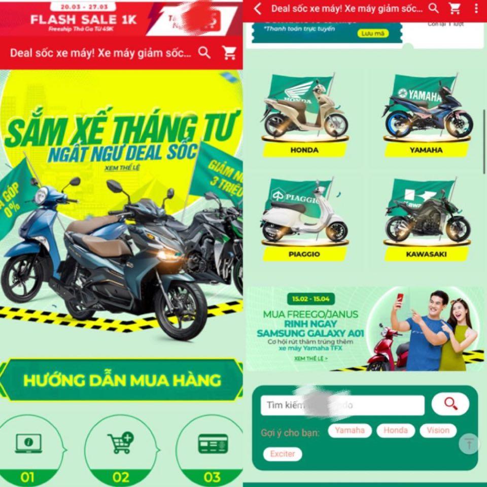 Thị trường xe máy online bỗng trở nên