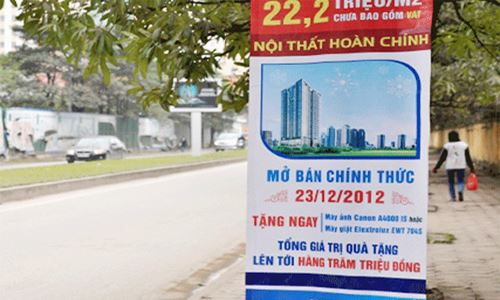 Quảng cáo bất động sản: Coi chừng bẫy giá rẻ