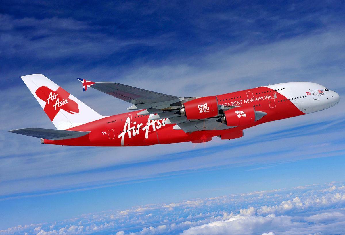 Bảng giá vé máy bay Air Asia khuyến mãi nhân dịp Noel và Tết Dương lịch 2016