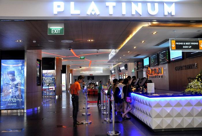 Giá vé xem phim tại các rạp Platinum Hà Nội năm 2016