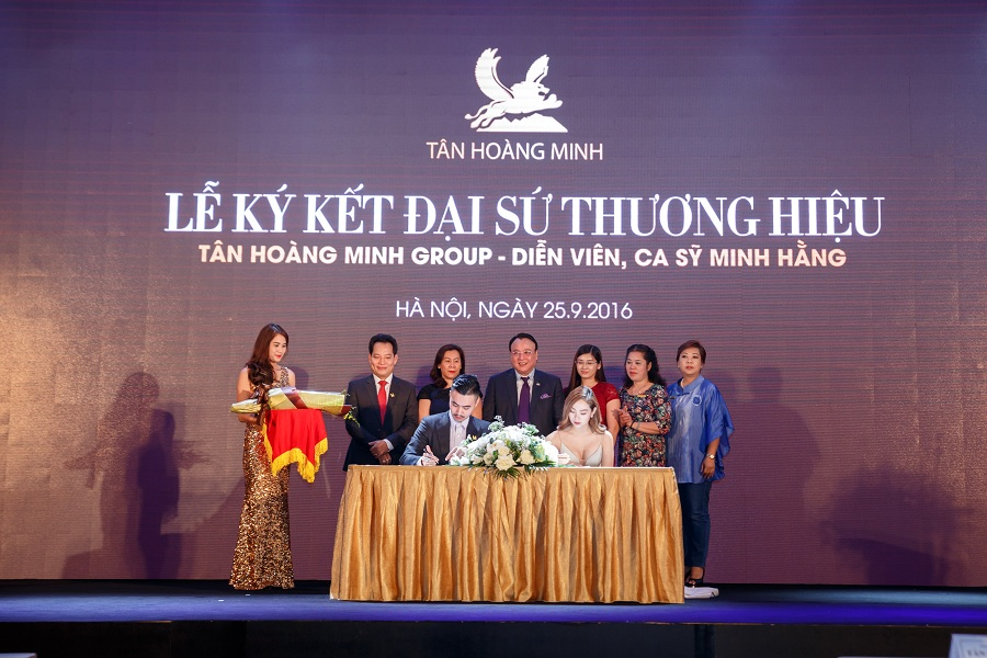 Tập đoàn Tân Hoàng Minh và ca sỹ Minh Hằng ký kết hợp đồng Đại sứ thương hiệu