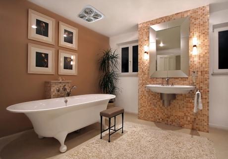 Những lưu ý an toàn khi sử dụng đèn sưởi nhà tắm