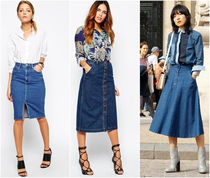 5 kiểu chân váy jean nổi bật nhất xu hướng thời trang hè 2016