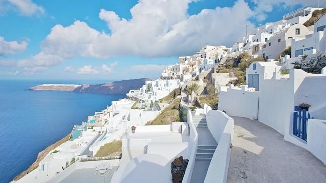 Khung cảnh đảo Santorini xinh đẹp