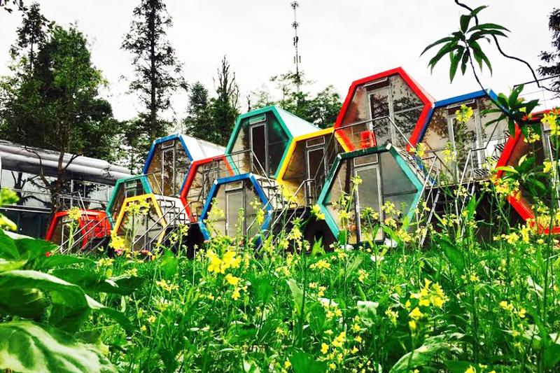 Nhà hình ong của Tubotelsapa dành cho các cặp đôi có phòng tắm mở kiểu riếng trời