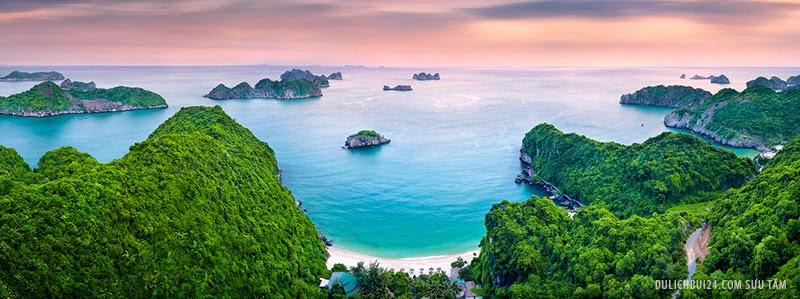 Rừng, biển, núi, đồi, thung lũng, bãi cát, hang động... xen kẽ, tạo nên nhiều cảnh đẹp kỳ thú của biển Cát BÀ