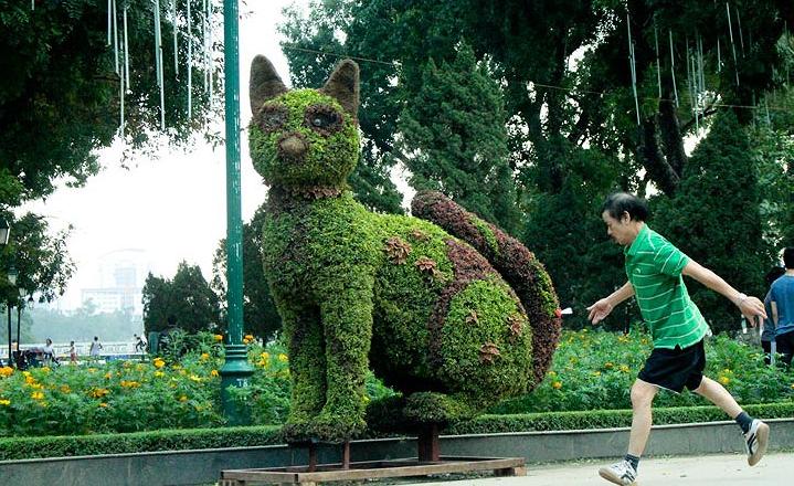 12 con giáp tại công viên Thống Nhất - con mèo