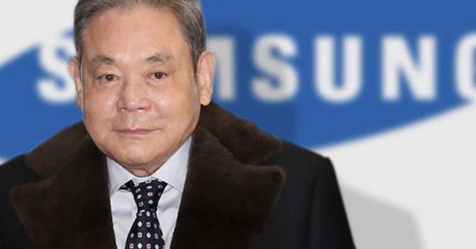 Tỷ phú Lee Kun Hee – cha đẻ cua Samsung.