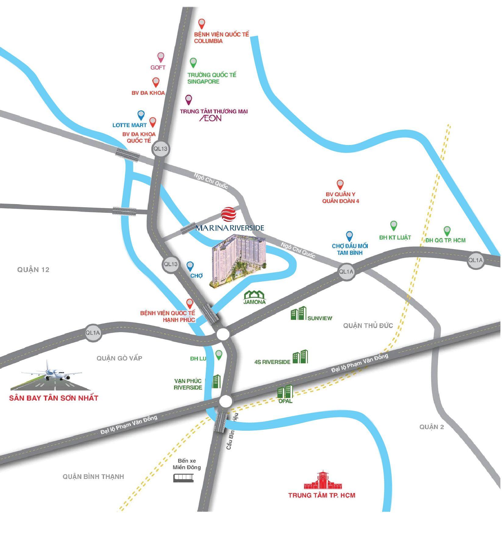 Khu dân cư hướng Bắc Sài Gòn dễ dàng liên kết về trung tâm thành phố sẽ thu hút rất nhiều người.