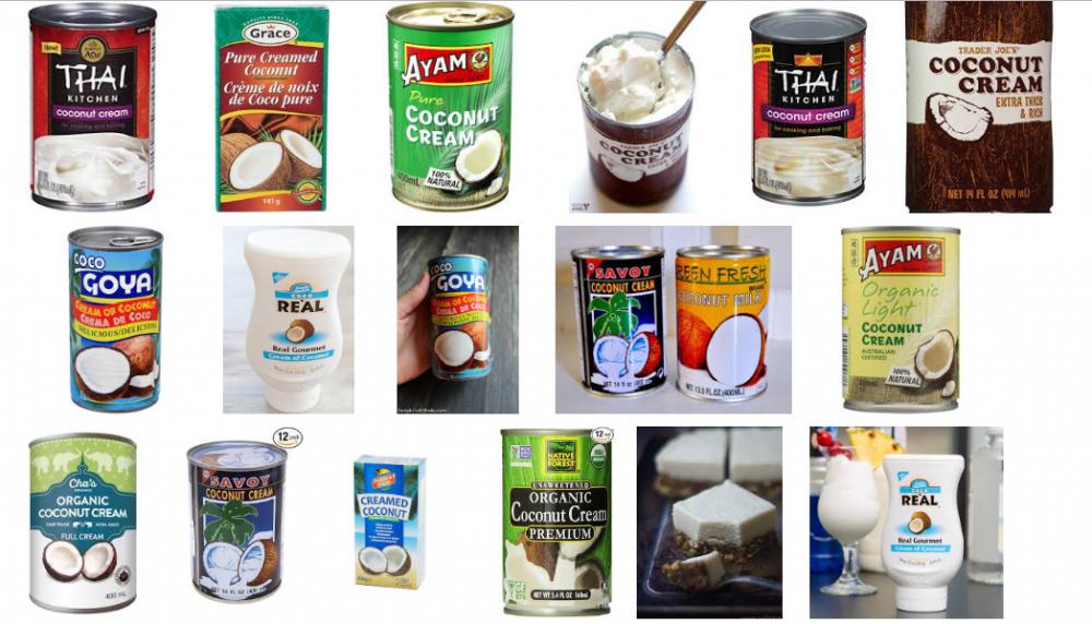 Có rất nhiều loại cốt dừa đóng lon sẵn dành cho những người không có nhiều thời gian tự làm.