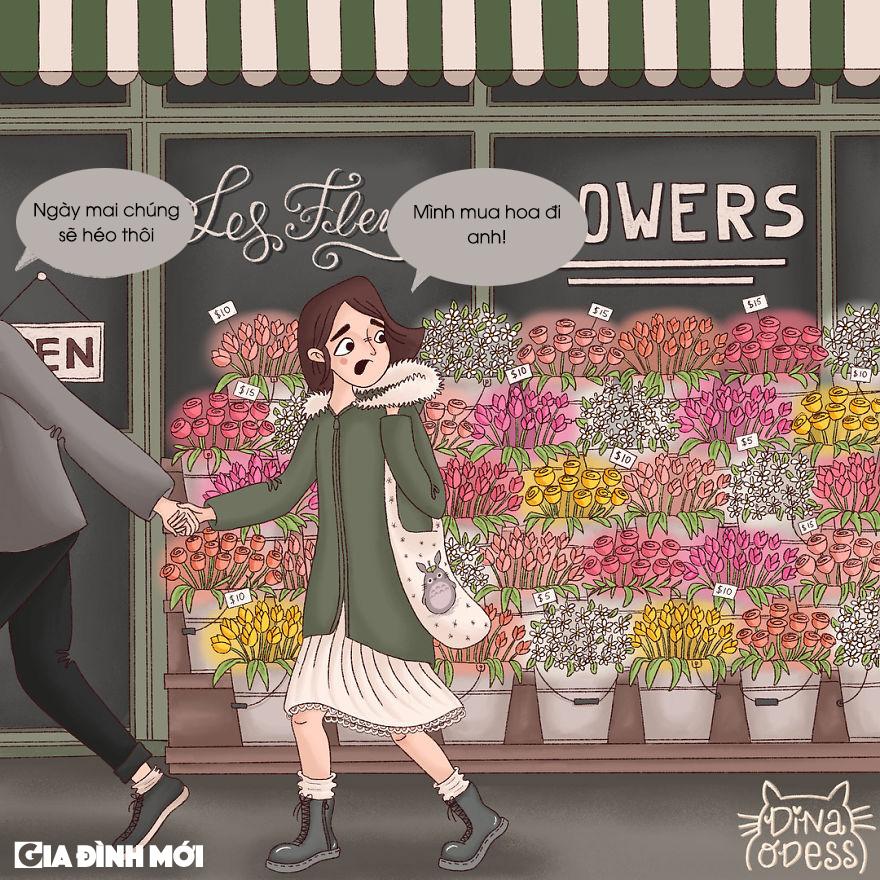 Nói vậy nhưng lại bí mật mua hoa tặng bạn gái ngay sau đó.