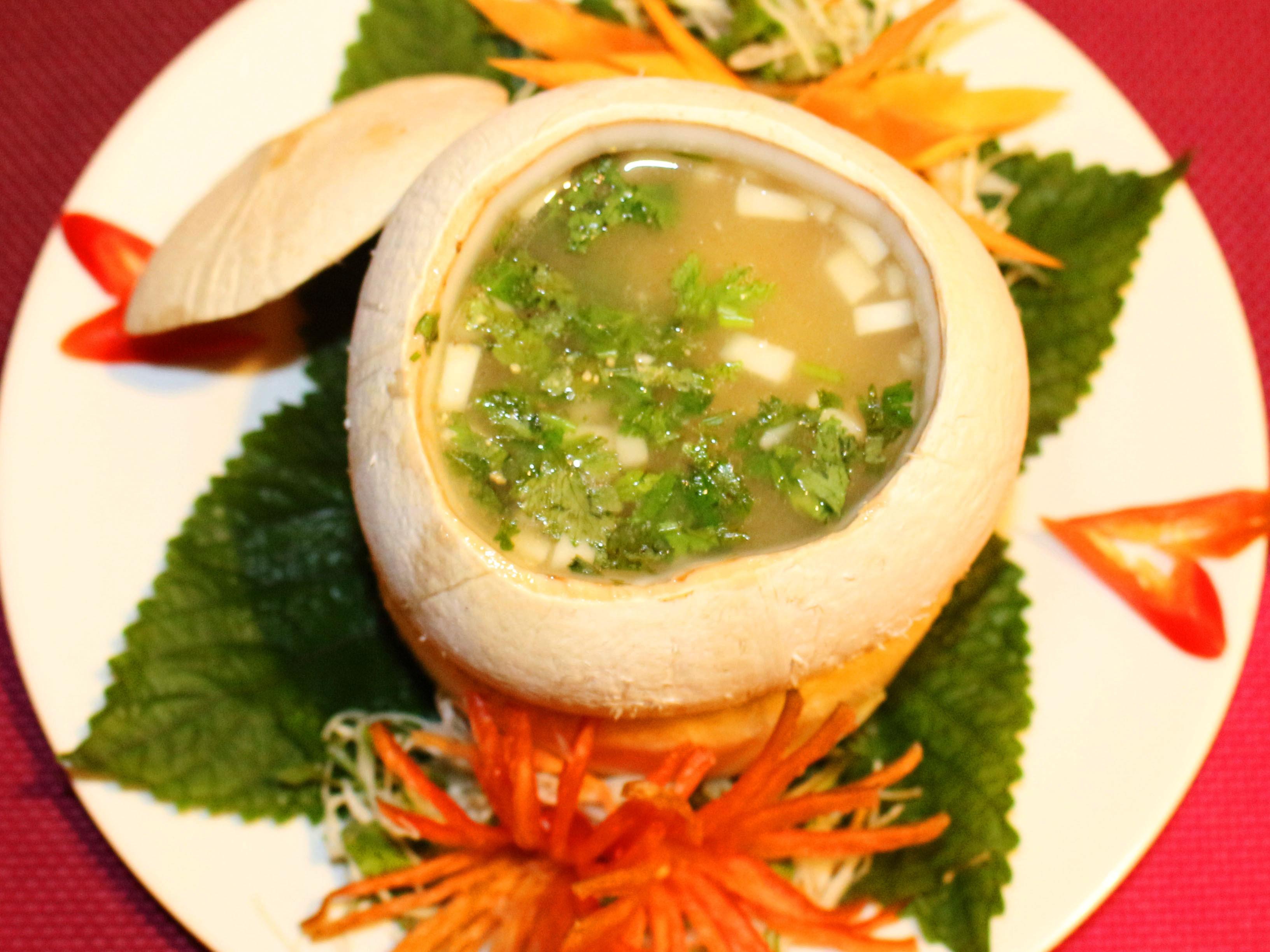 Món ngon chất lừ từ nước dừa cho bé