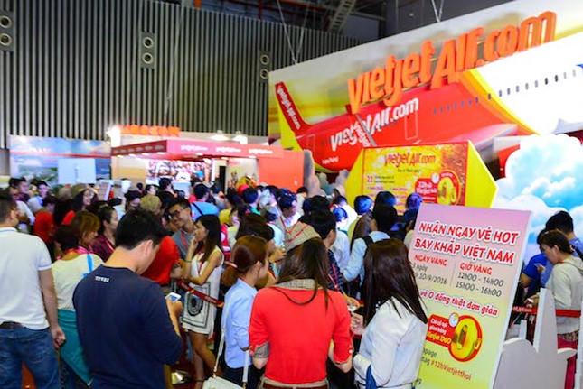 Vietjet mở bán 700.000 vé 0 đồng chào đón Hội chợ Du lịch quốc tế TPHCM 2017