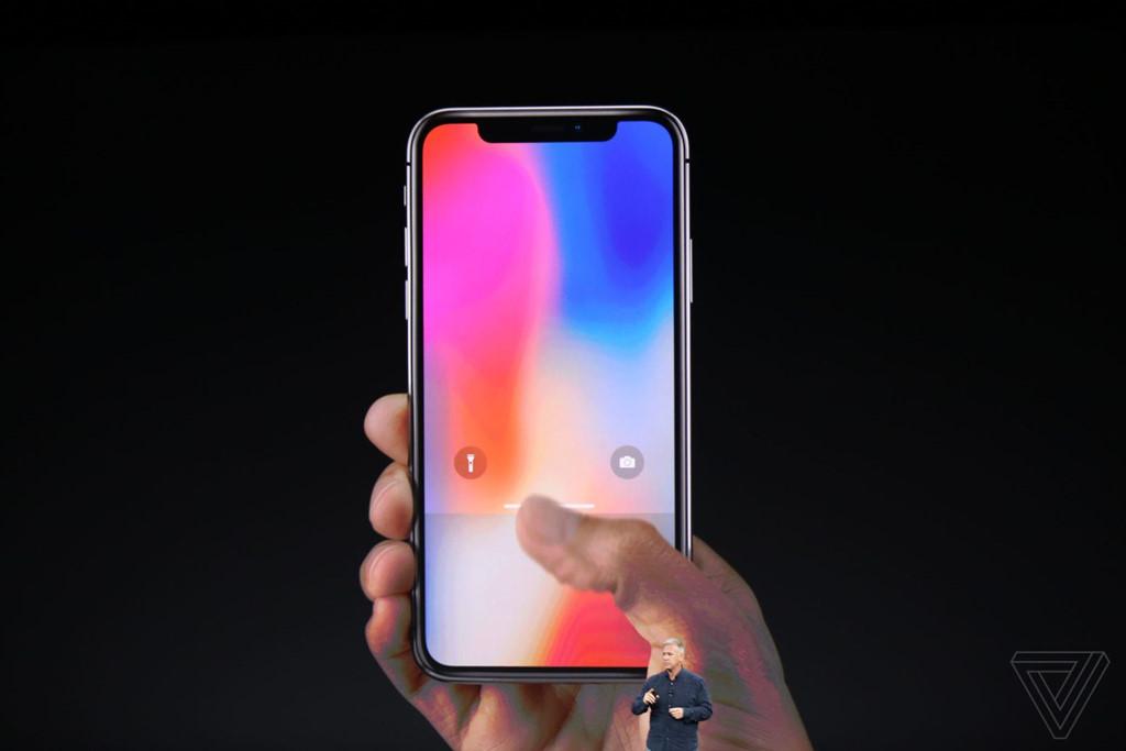 Màn hình tràn viền của chiếc iPhone X.