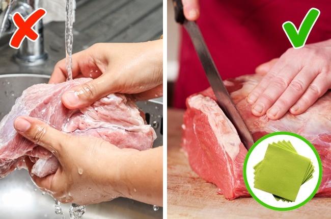 Các loại thực phẩm cấm rửa trước khi chế biến