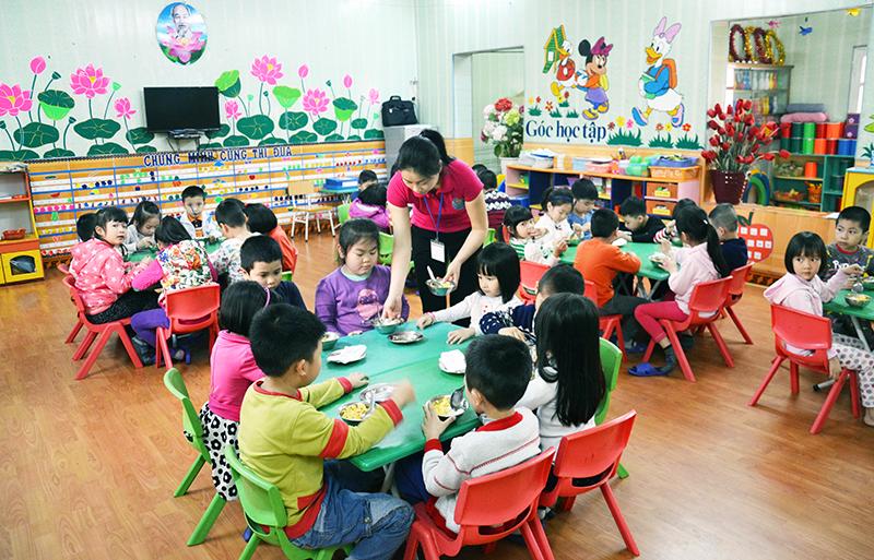 Năm học 2018 – 2019, trẻ mầm non sẽ được hỗ trợ ăn trưa