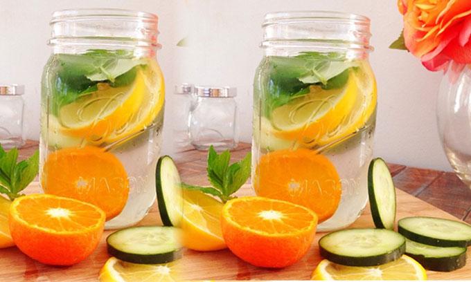 Công thức nước detox cơ thể từ các loại hoa quả ngày Tết