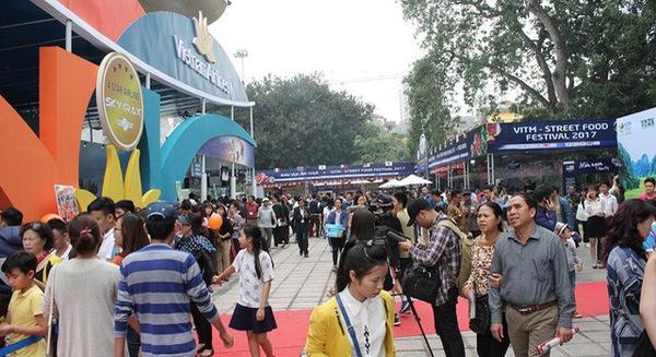 Hình ảnh trong Hội chợ Du lịch Quốc tế Việt Nam 2018.
