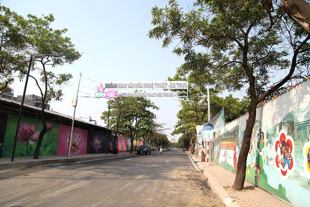 Gấp rút hoàn thiện phố đi bộ Trịnh Công Sơn trước ngày mở cửa