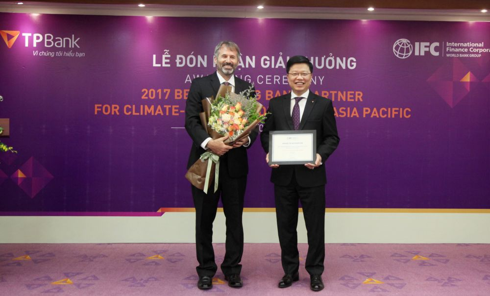 IFC trao giải thưởng danh giá cho TPBank