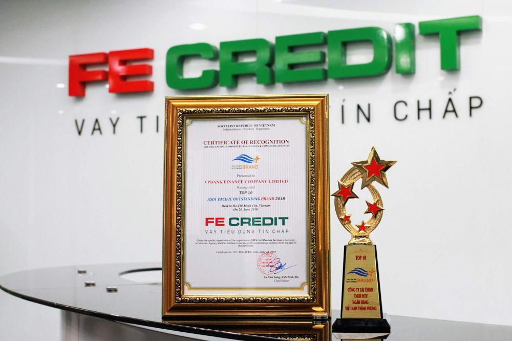 Giải thưởng danh giá dành cho FE Credit.