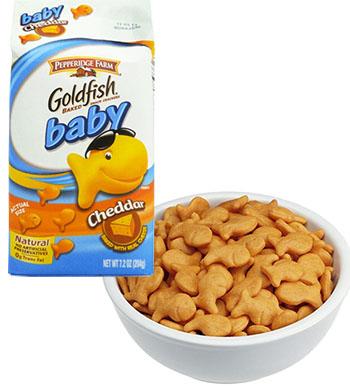 Một trong những loại bánh cá goldfish bị thu hồi.