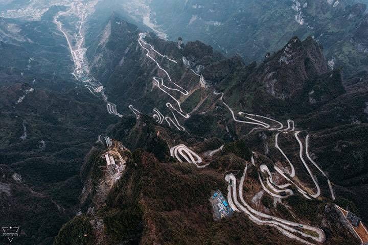 Thiên Môn Sơn nhìn từ trên cao