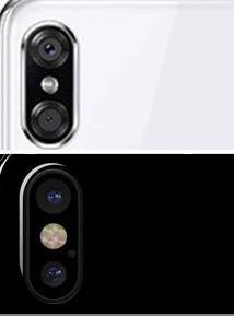 Bên trên là Motorola P30. Hình 2 là iPhone X
