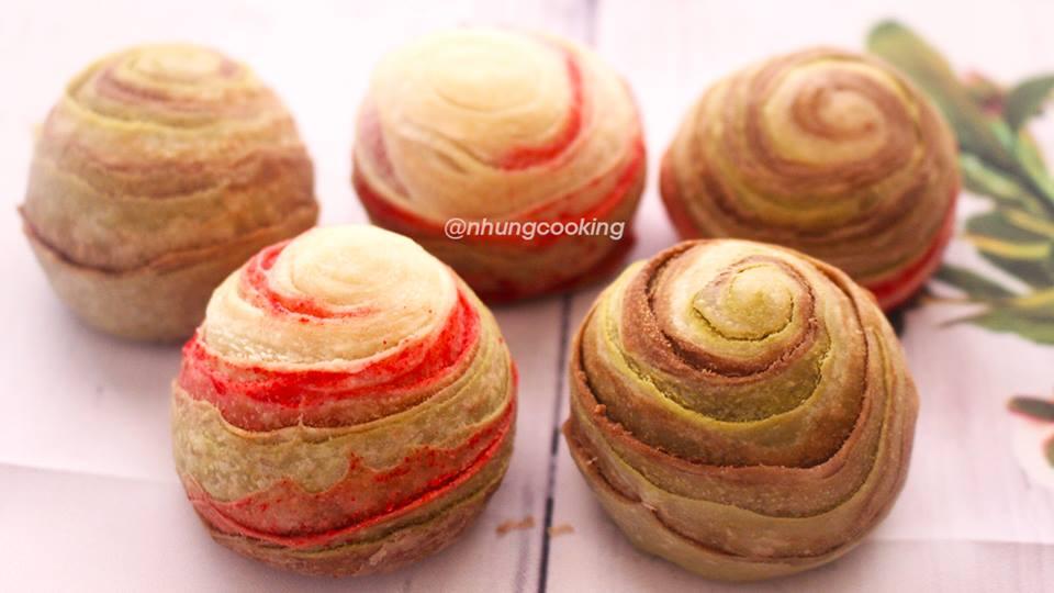 Học cách làm bánh Trung thu ngàn lớp cực dễ chẳng cần lò nướng