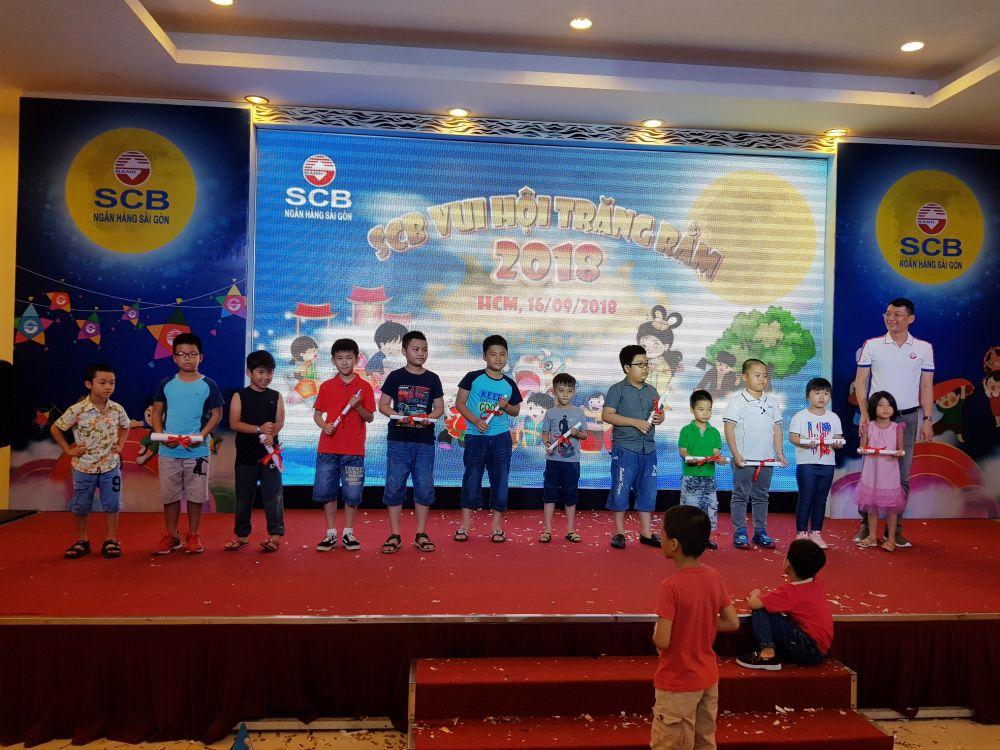 Chương trình mang đến không khí rộn ràng tràn ngập niềm vui và tiếng cười cho con em CBNV SCB nhân dịp Tết Trung Thu