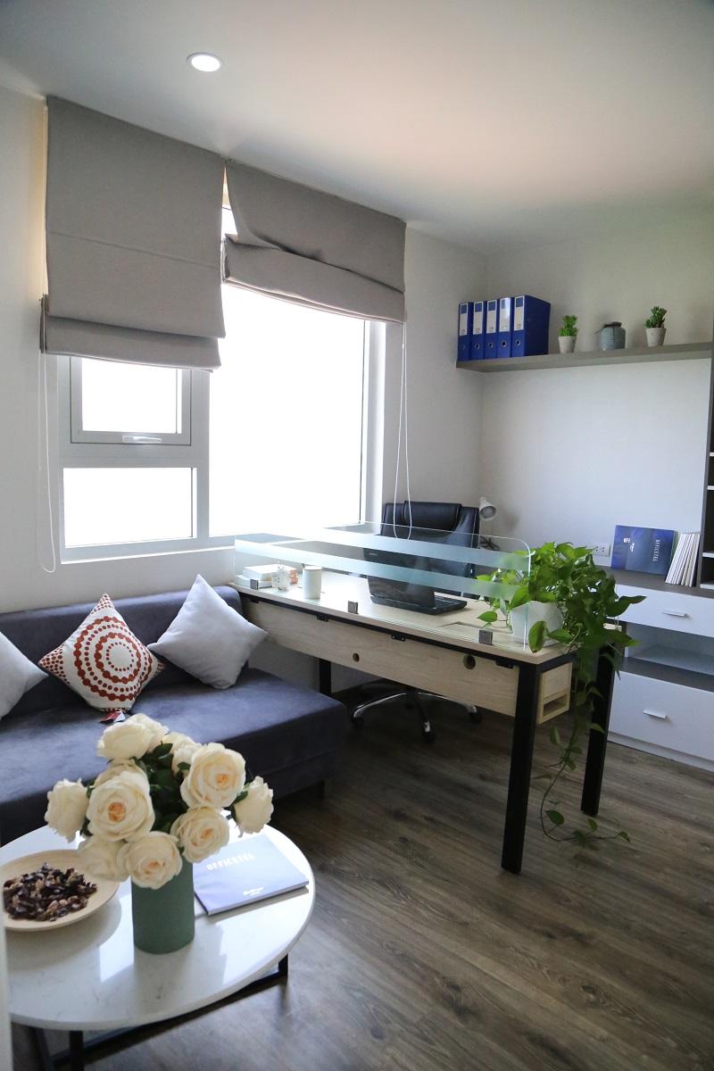 Căn hộ mẫu Officetel EcoLife Capitol được thiết kế đa năng: vừa ở vừa làm văn phòng