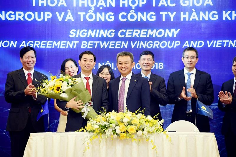 Vietnam Airlines - Vingroup ký kết thỏa thuận hợp tác