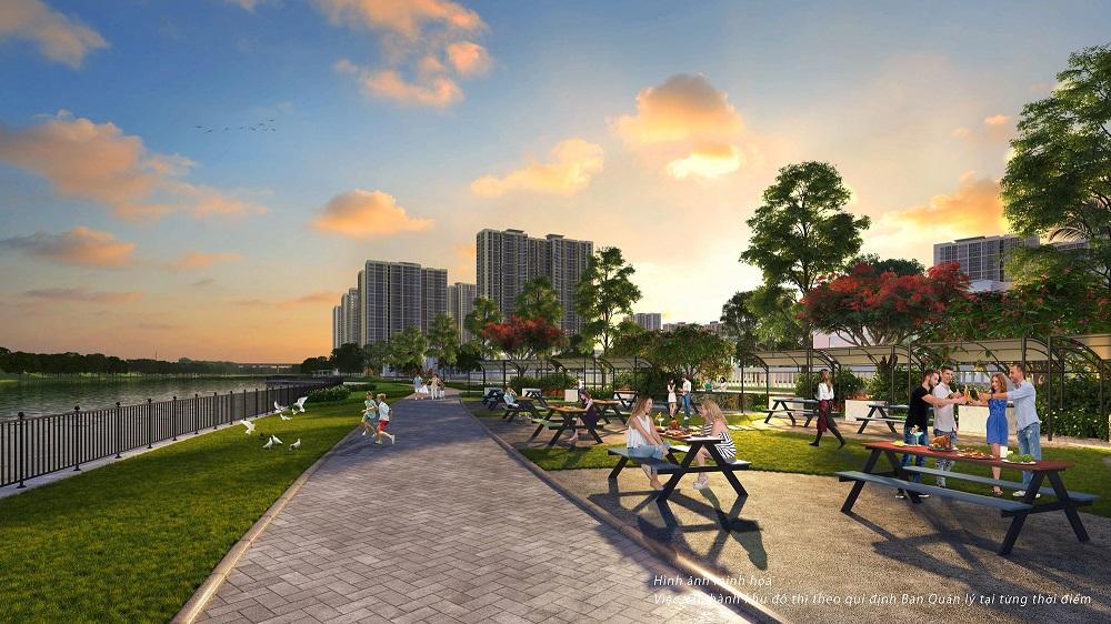 """Thành phố đại dương"""" cũng kiến tạo 6 công viên BBQ với hơn 100 điểm nướng ngoài trời nhằm mang đến không gian sinh thái hoàn hảo cho cư dân sum họp gia đình và kết nối bạn bè."""