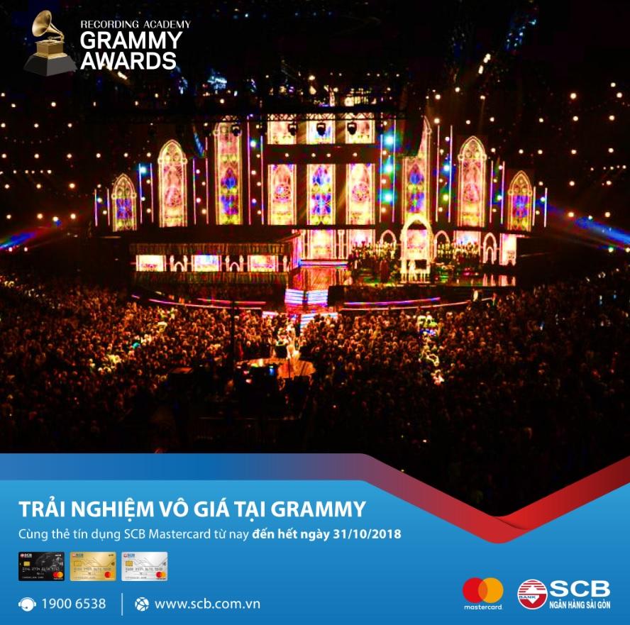 Tiêu thẻ SCB Mastercard, tham dự Grammy danh giá