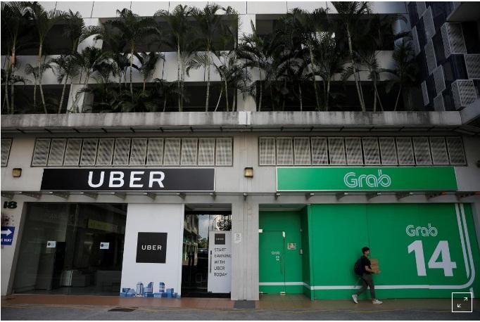 Uber kháng cáo án phạt sát nhập Grab của Singapore