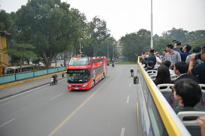 Hà Nội có thêm tuyến xe bus 2 tầng mới phục vụ du khách