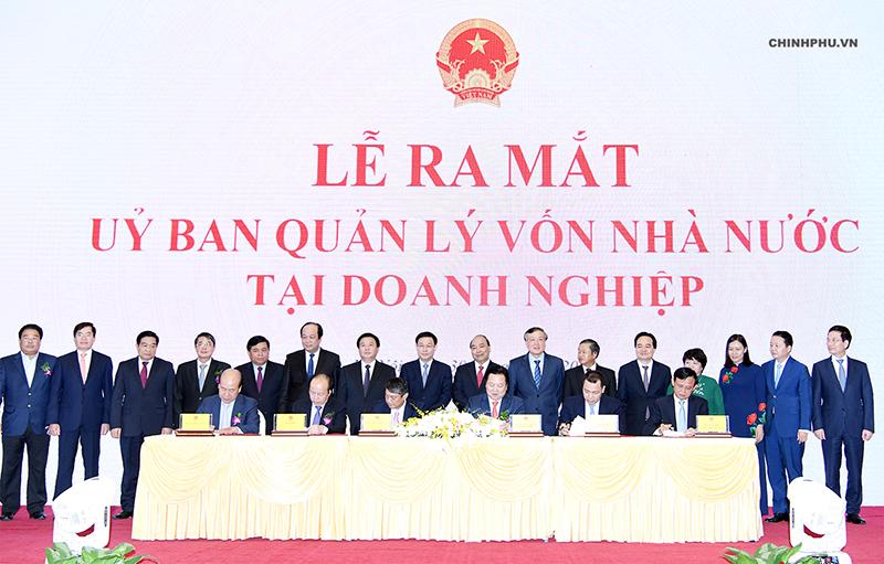 Lễ ra mắt Ủy ban Quản lý vốn Nhà nước ra đời