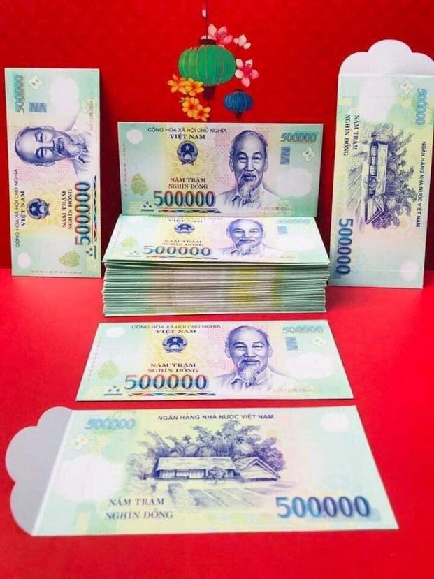 Phong bao lì xì in hình tờ tiền Việt Nam đang 'hot' xuân Kỷ Hợi: Có vi phạm pháp luật?