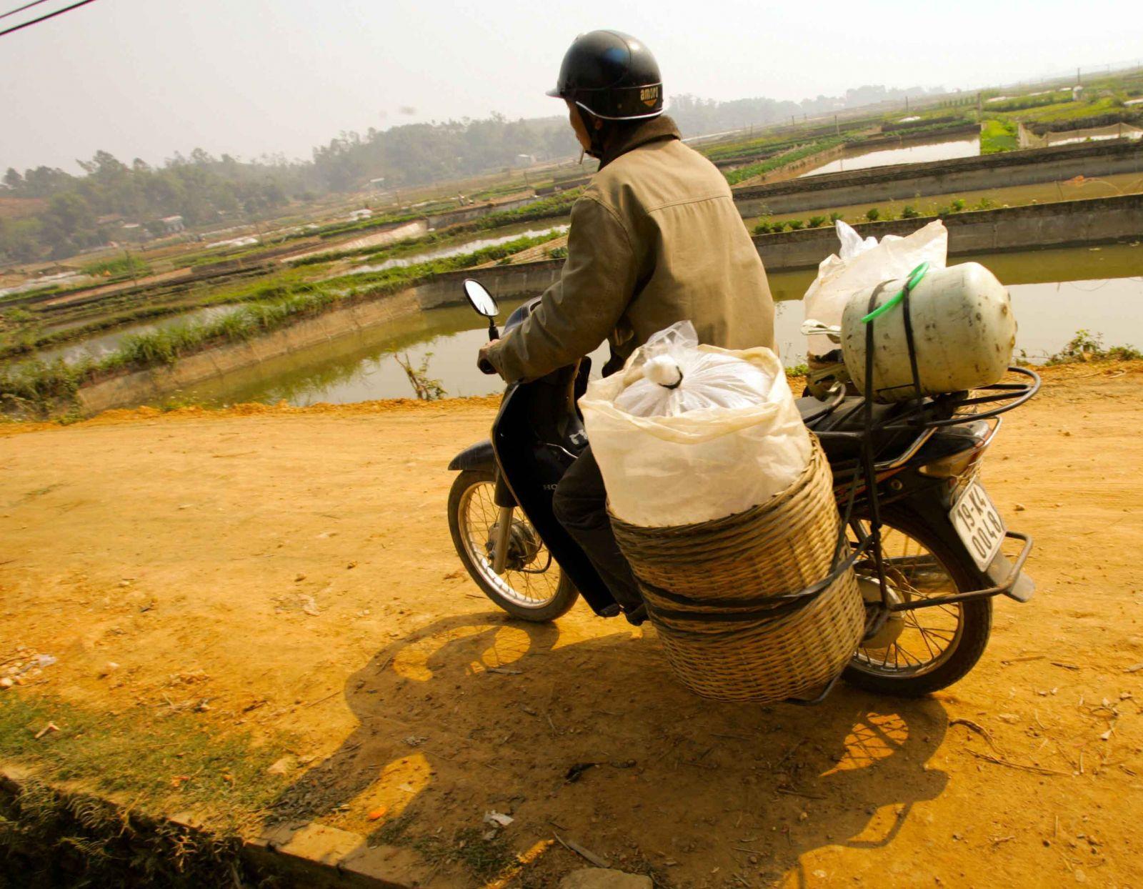 Muốn vận chuyển đi xa không bị chết ngạt, cá được bơm đầy đủ oxy và thường xuyên lắc mạnh.