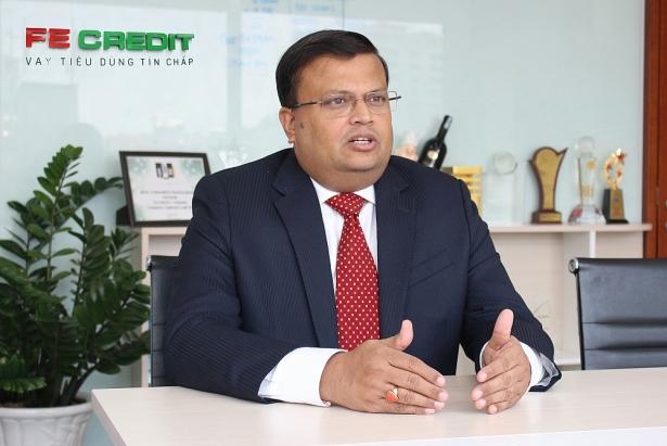 Ông Kalidas Ghose, Phó Chủ tịch kiêm Tổng Giám đốc của FE Credit