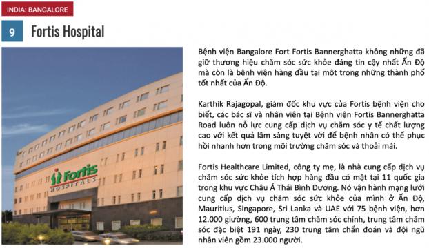 10 bệnh viện du lịch y tế tốt nhất năm 2018 8