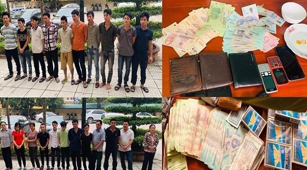 Thanh Hóa: Phá hai sới bạc lớn, bắt giữ 24 đối tượng