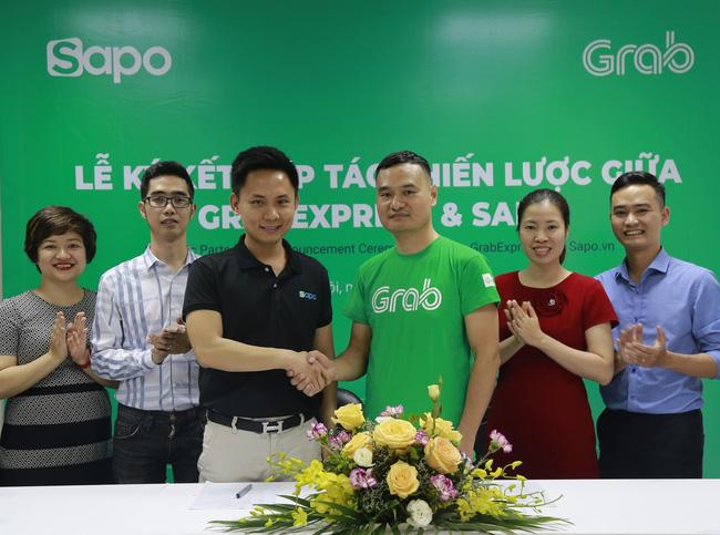 Sapo hợp tác Grab: Các chủ shop kết nối giao hàng nhanh trong một nốt nhạc