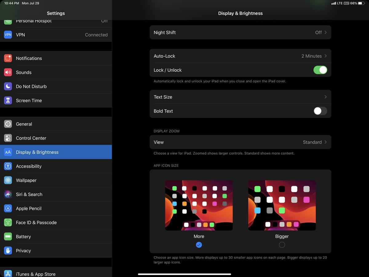 Tính năng này mới chỉ có ở phiên bản beta 5 của hệ điều hành iPadOS