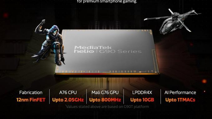 Khả năng tiết kiệm điện năng của chip Helio G90T được đánh giá cao