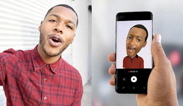 Việc ra mắt tính năng AR Emoji là nhằm cạnh tranh với Animoji của iPhone X(Ảnh: Samsung live)