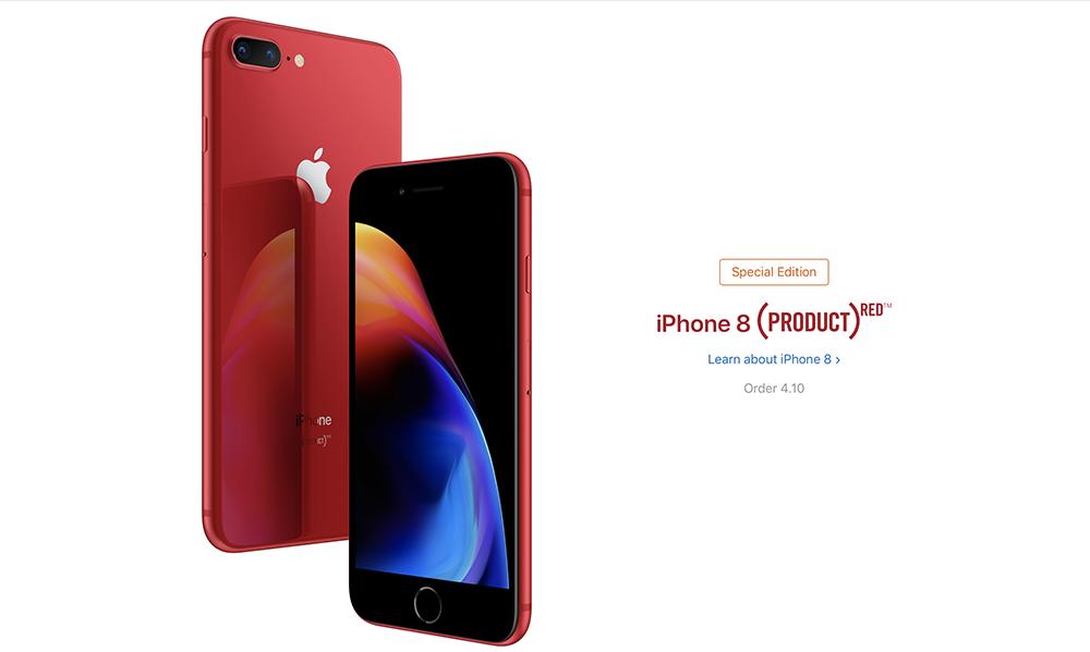 Apple trình làng iPhone 8/8 Plus đỏ
